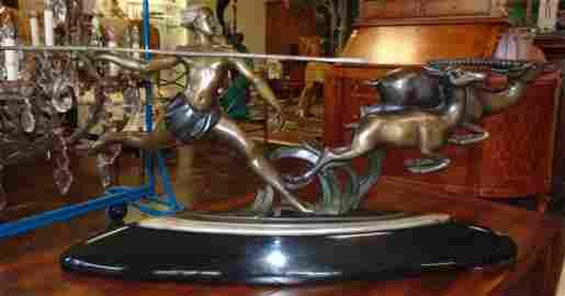 Antique Deco Bronze Sculpture by Alexandre Kelety