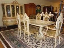 Antique Italian Painted Dining Suite