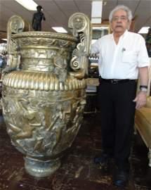 Palace Size Bronze Urn