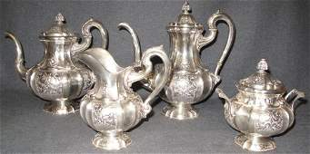 Vintage 4 pc. Italian 800 Silver Tea Set