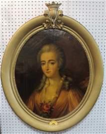 19th c. Portrait Oil Painting Countess Madame Du Barry