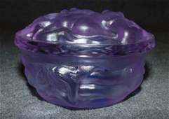 Czech Bohemian Alexandrite Glass Jar