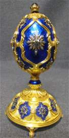 """Faberge Franklin Mint """"Star of the North"""" Musical Egg"""