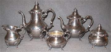 Gorham Sterling Silver 5 pc Tea Set