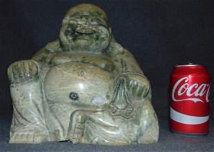 Carved Stone Happy Buddha