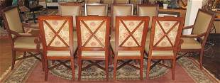 Set of 10 LEATHER & MAHOGANY DINING CHAIRS