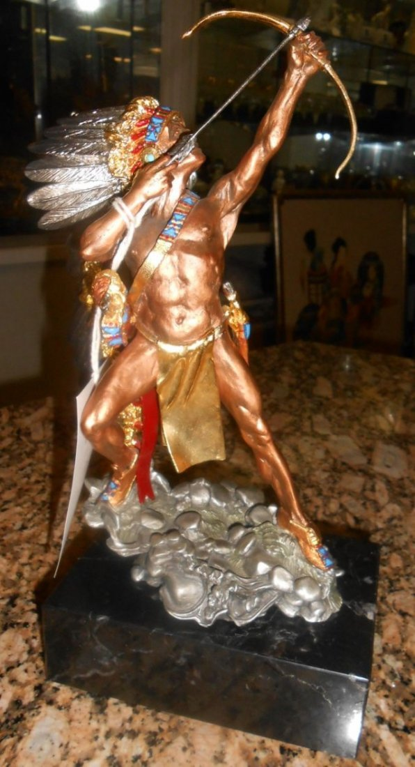 Native American Pewter Sculpture by Tim Sullivan
