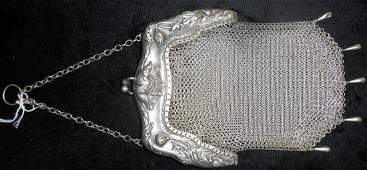 "Vintage ""Whiting and Davis"" Sterling Silver Mesh Purse"