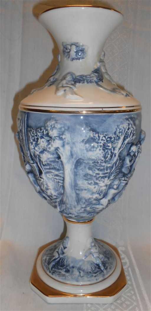 Tall Capodimonte Vase