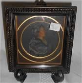 Antique Wax Profile Bust of an English Gentleman