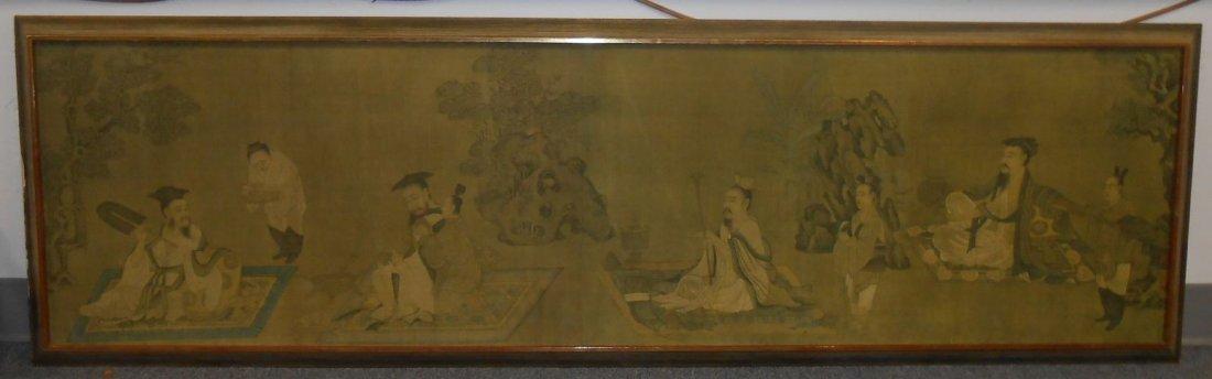 Large Oriental Painting on Silk