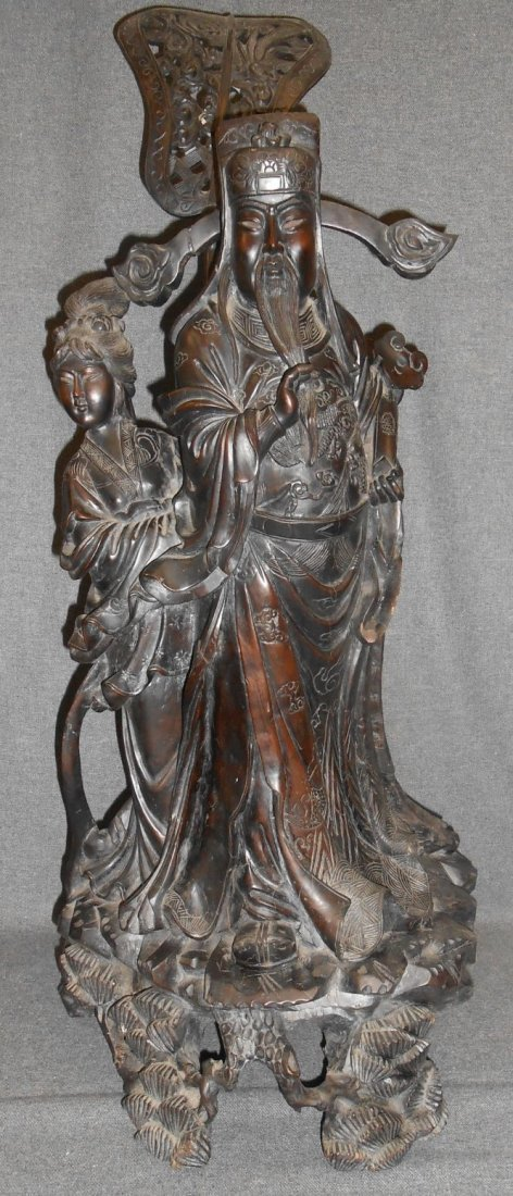 Antique Chinese Iron Wood Sculpture