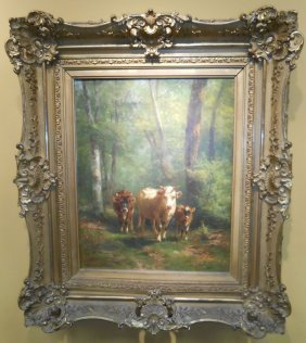 Thomas Bigelow Craig Cow Painting