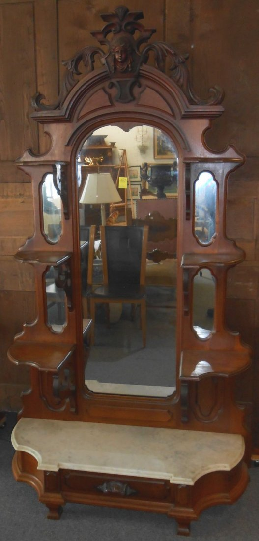 Antique Victorian Etagere Attributed to John Jelliff
