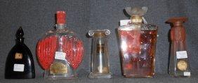 Lot Of 5 Misc Perfume Bottles