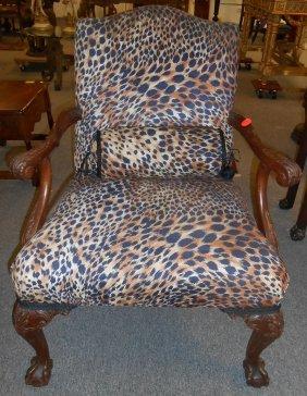 Antique Arm Chair Leopard Print