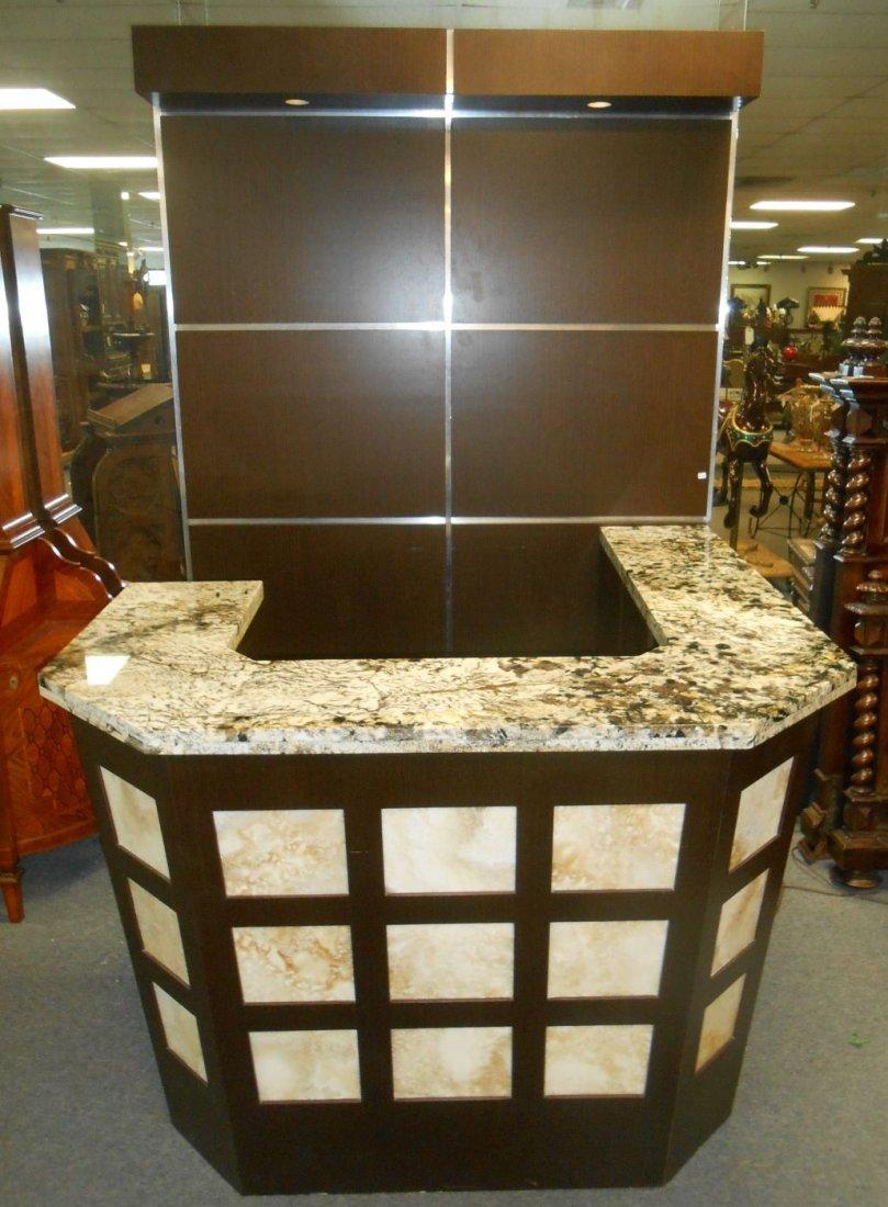 Awesome Contemporary Granite Home Bar