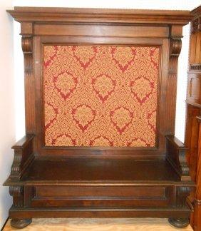 Antique Italian Oak Hall Bench