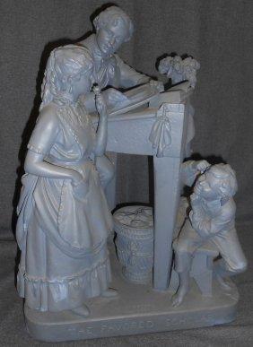 Antique Chalk Sculpture By John Rogers (1829-1904)