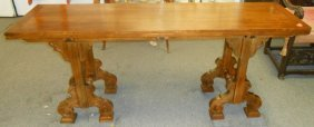Antique Carved Console Dining Table