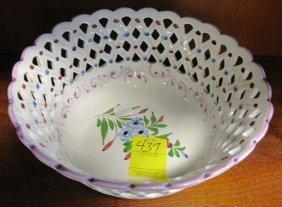 Vintage Porcelain Reticulated Bowl