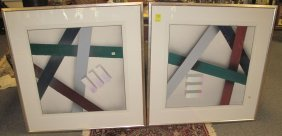 2 Framed Contemporary Art Prints