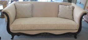 Vintage Decorator Upholstered Sofa