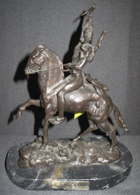 Bronze Western Sculpture After Remington