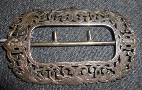 Antique Sterling Silver Belt Buckle