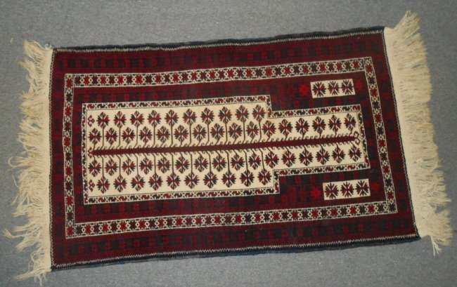 Vintage Baluch Prayer Rug