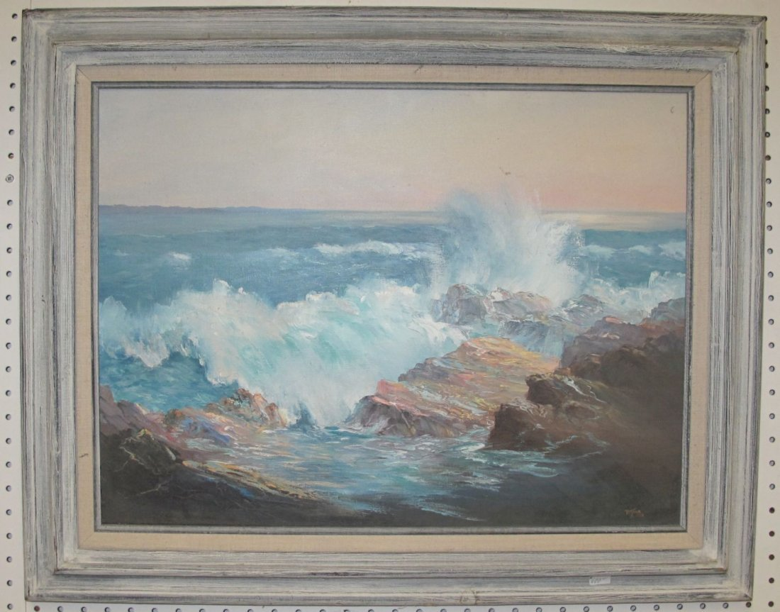 Original Seascape Oil Painting by Harold Putnam