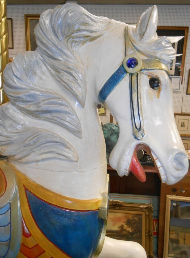 RARE C.W. Parker Carousel Jumper Horse - 3
