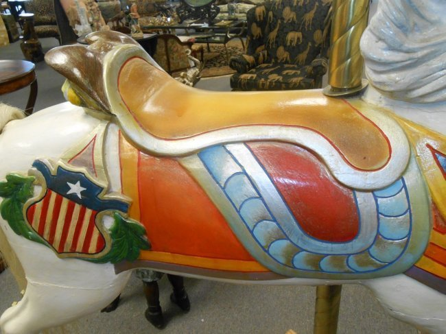 RARE C.W. Parker Carousel Jumper Horse - 4