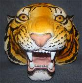 Italian Ceramic Bust of a Tiger