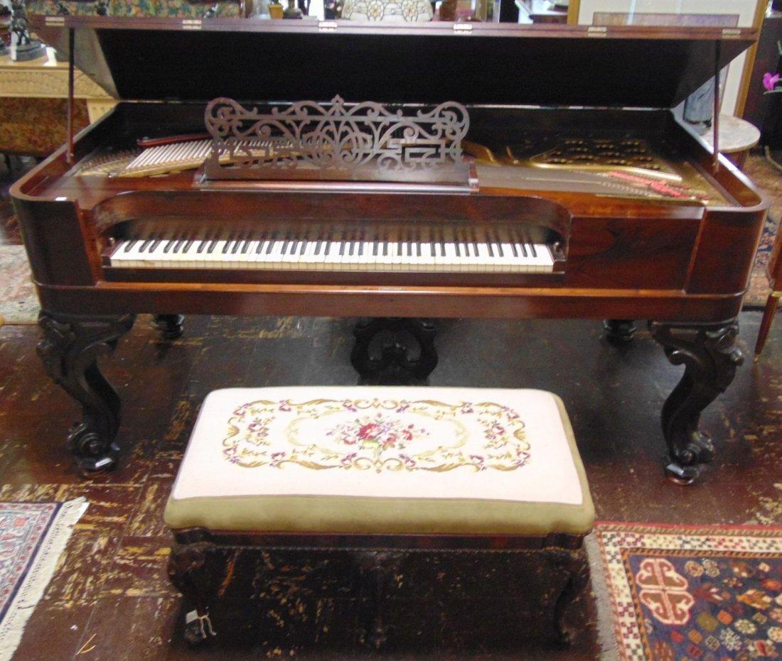 RARE Antique Square Grand Piano by Wm. Knabe