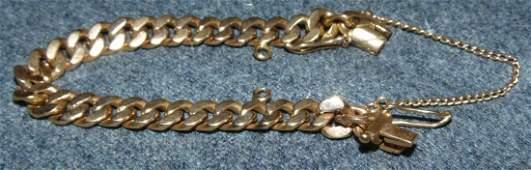 Vintage 18K Gold Chain Link Bracelet