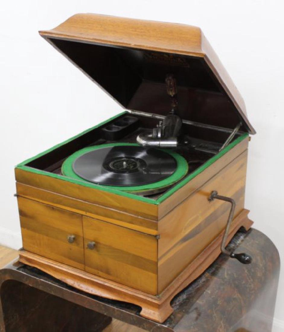 Victor Table Wind-Up Mahogany Phonograph