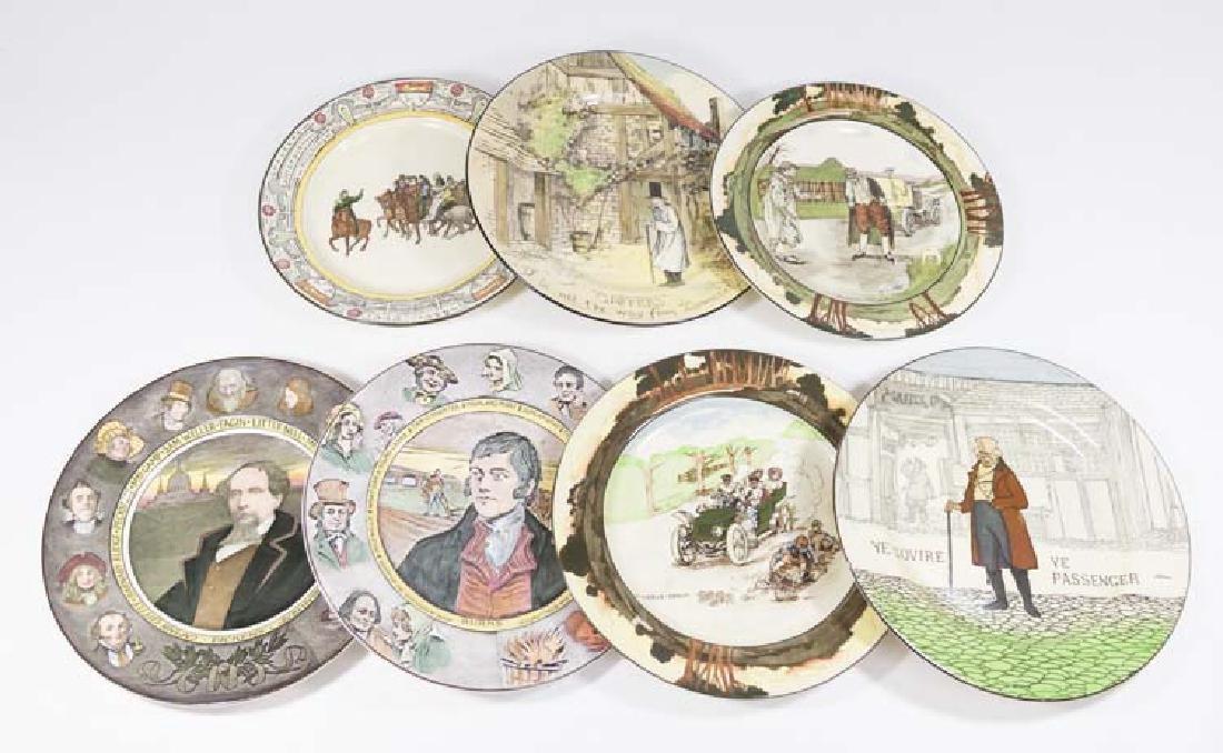 7 Royal Doulton Porcelain Character Plates