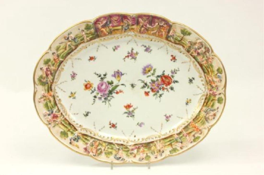 :Capodimonte Porcelain Oval Tray