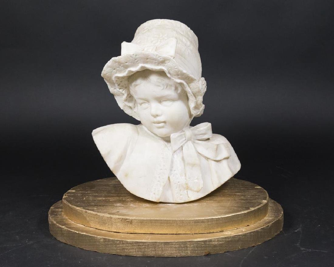 Bust of a Young Girl in Bonnet