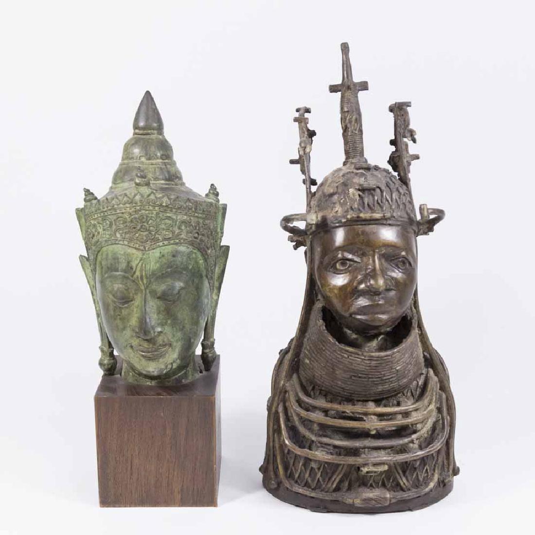 2 Bronze Busts