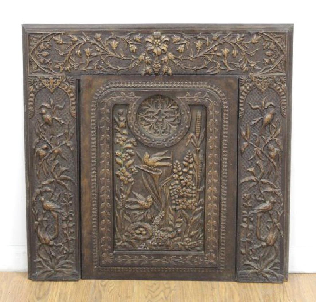 Decorative 2-Piece Fire Mantel
