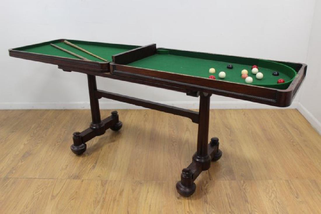 Late Regency Mahogany Snooker Table