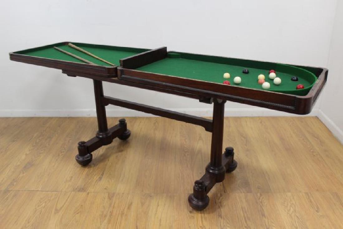 Late Regency Mahogany Snooker Table