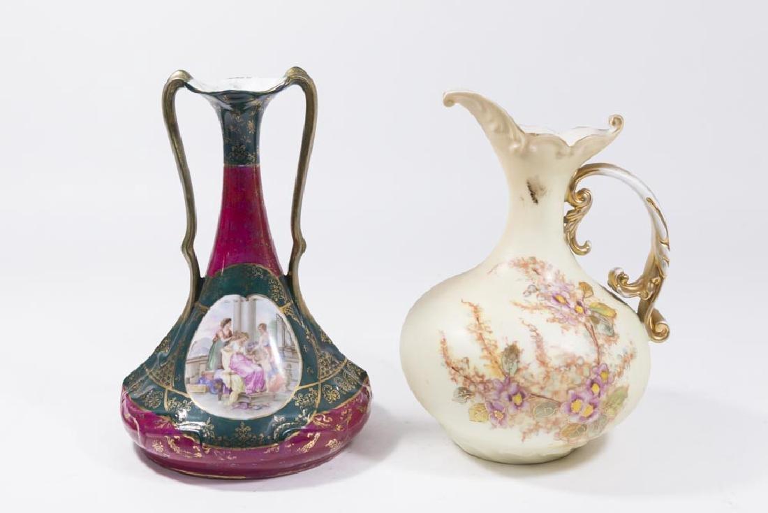 Lot of 2 German & Austrian Porcelain Items