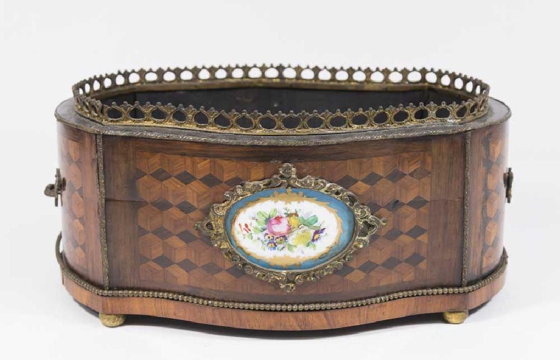 French 19th Century Parquetry Jardiniere