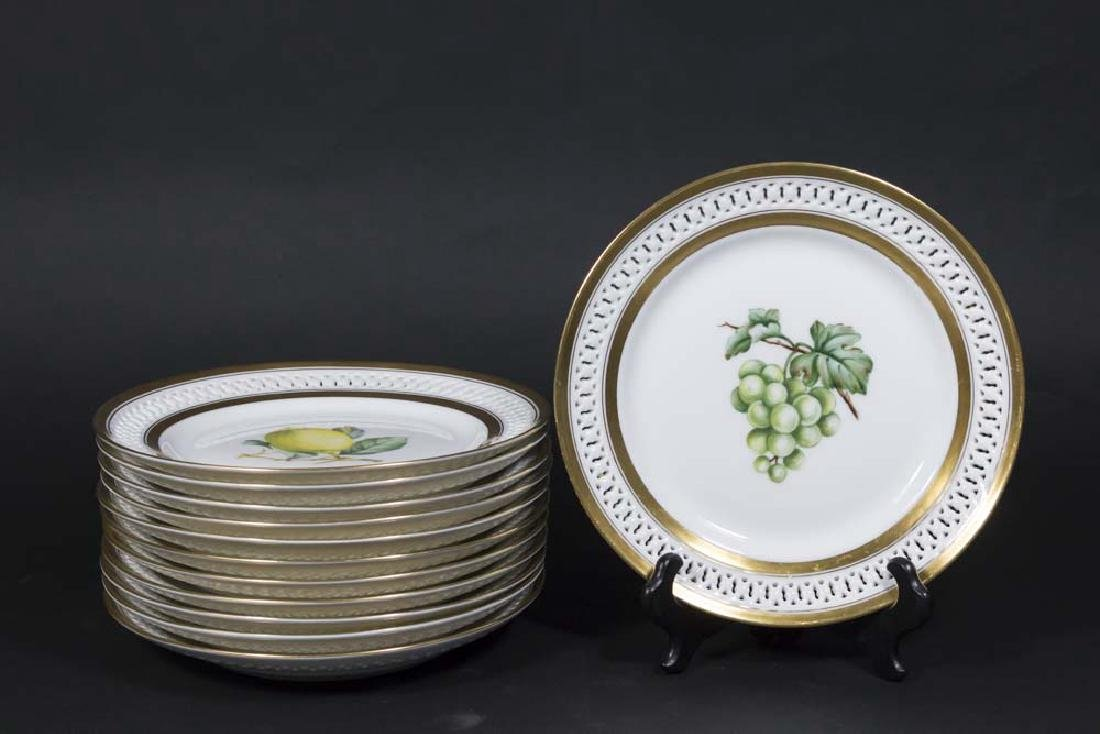 B&G Copenhagen Set Handpainted Fruit Dishes