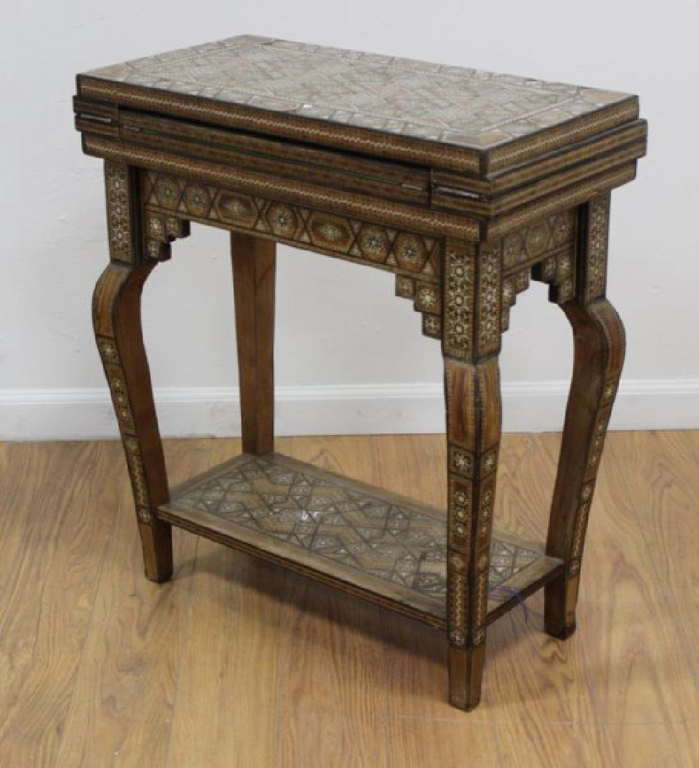 Moroccan Inlaid Game Table