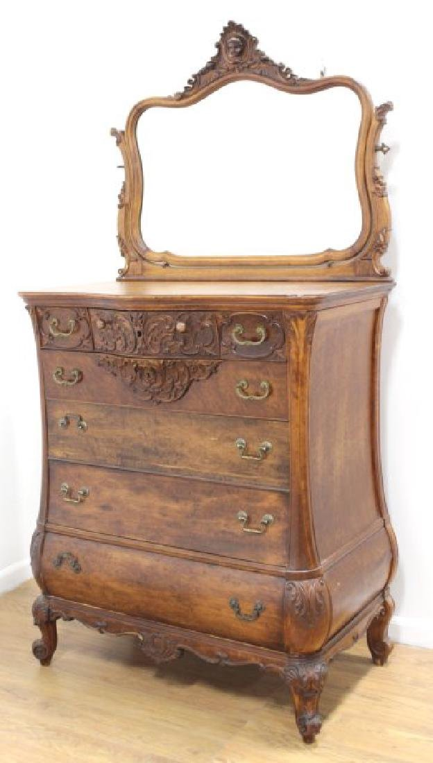 Late American Victorian Early Maple High Chest