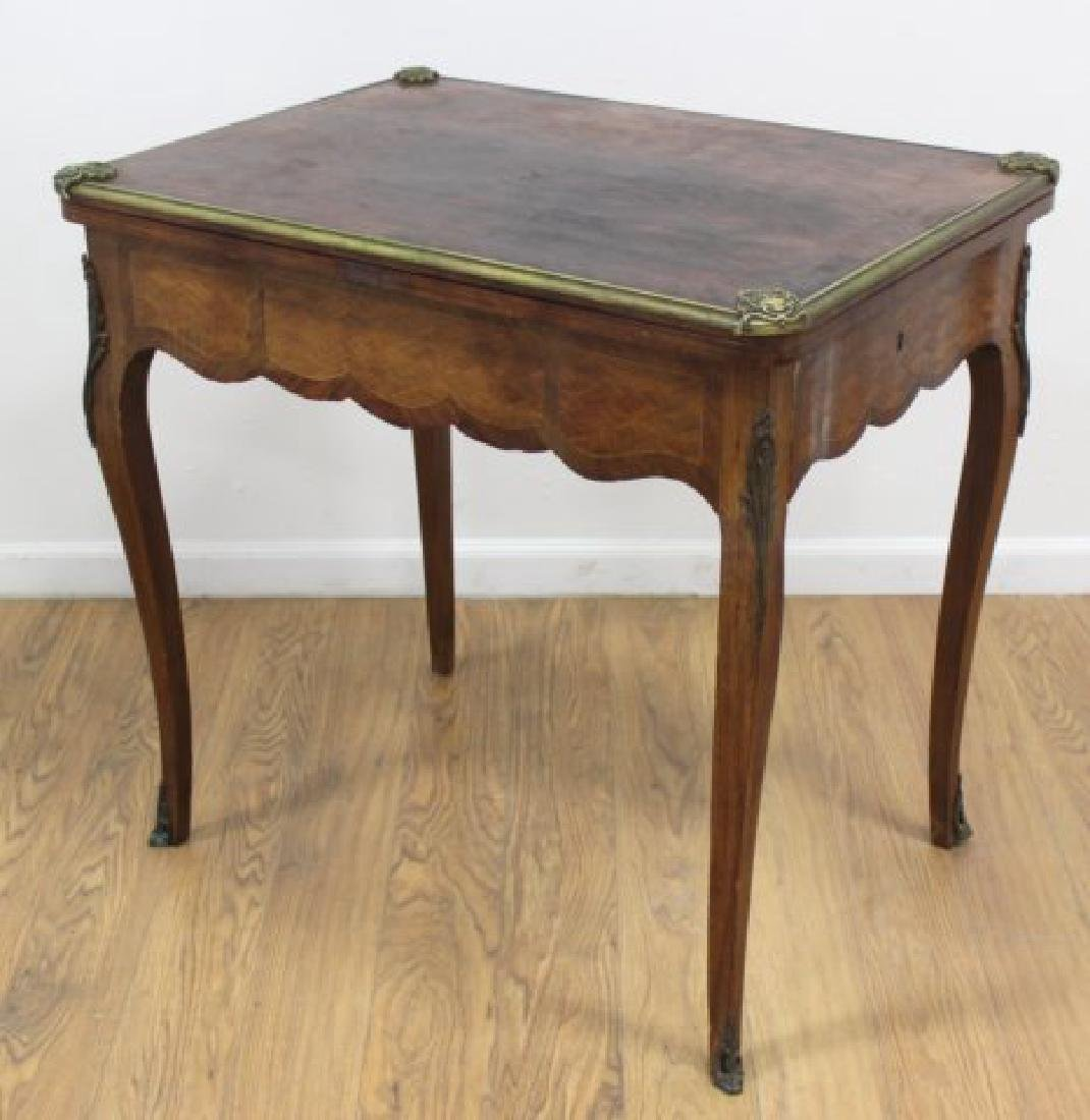Floral Inlaid Bronze Mounted Card Table